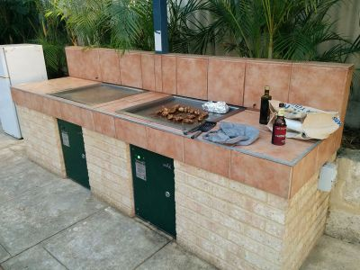 Barbeque facilities at Mountway
